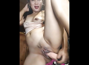 Horny Mature Pinay Playing With Dildo