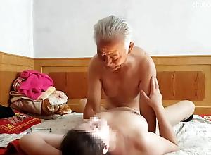 Chinese grandpa fucks hard