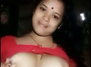 Assamese wife showing her boobs