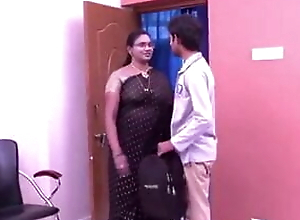 aunty's big boobs in private room