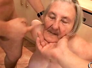 76 years old toothless granny is too horny for group sex