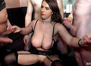 MILF SUSI WITH BIG SAGGY TITS IN GERMAN GANGBANG SWINGER SEX SCENE