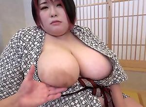 Big busty Japanese mom sucks and fucks Asian cock