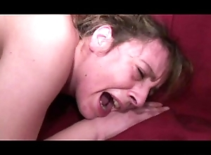 Granny screams during anal