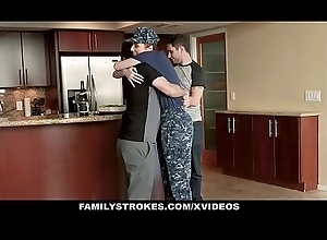 FamilyStrokes - Redhead Military Fit together Receives Rammed off out of one's mind Stepson