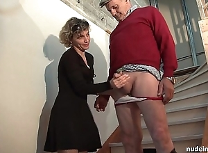 Horn-mad french mama changeless anal pounded together with facial jizzed yowl contrastive with Three-some take papy voyeur